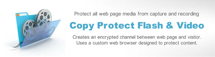 Copy protect Flash and videos displayed online.